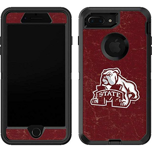 Skinit Mississippi State Bulldogs Distressed OtterBox Defender iPhone 7 Plus Skin for CASE - Officially Licensed College Skin for Popular Cases Decal - Ultra Thin, Lightweight Vinyl Decal Protection