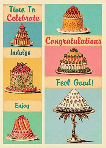 Tarjeta de felicitación felicitaciones pasteles/tartas ...
