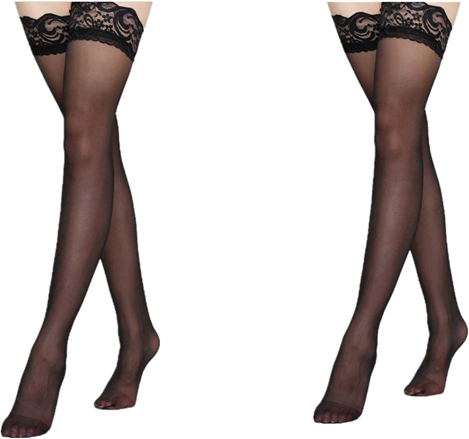 Women Thigh-Highs Stockings Hold Up Lace Top Nylon Fashion Garter Belt Suspender