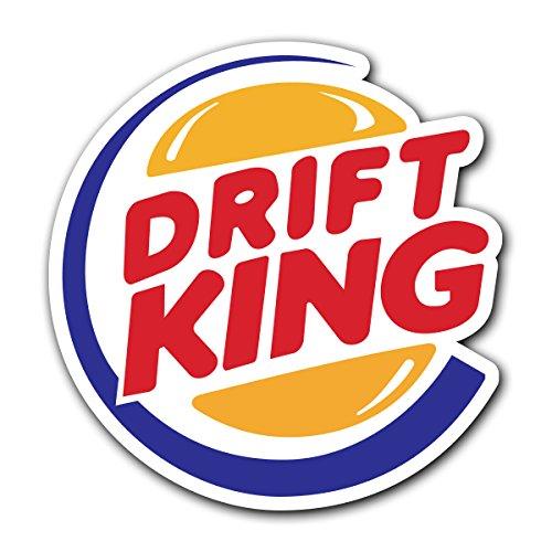 (CUSTOMI Drift King JDM Decal Sticker for Car Truck MacBook Laptop Air Pro Vinyl)