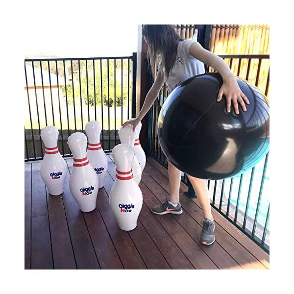 GIGGLE-N-GO-Giant-Bowling-Set-Inflatable-Bowling-Set-for-Kids-A-Giant-Games-Classic-for-Any-Age-Play-Indoor-Games-or-Outdoor-Games-for-Family-Will-Be-One-of-The-Hottest-Gifts-for-Christmas-2019