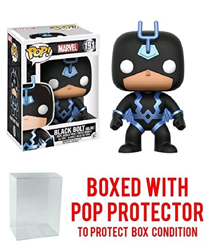 Funko Pop! Marvel Black Bolt (Blue Costume) Previews Exclusive Vinyl Figure (Bundled with Pop BOX PROTECTOR ()