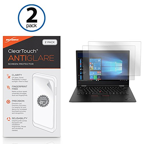 Lenovo Thinkpad X1 Yoga (3rd Gen) Screen Protector, BoxWave [ClearTouch Anti-Glare (2-Pack)] Anti-Fingerprint Matte Film Skin for Lenovo Thinkpad X1 Yoga (3rd Gen)