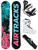 AIRTRACKS DAMEN SNOWBOARD SET - BOARD POLYGONAL 138 - SOFTBINDUNG SAVAGE W -...