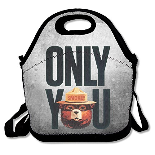 Bakeiy Smokey Bear Only You Lunch Tote Bag Lunch Box Neoprene Tote For Kids And Adults For Travel And Picnic (Smokey The Bear Costume)