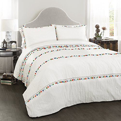 Lush Decor Boho Tassel 3 Piece Comforter Set, King, 0