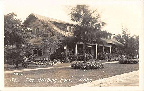 Lake Wales Florida Hitching Post Real Photo Antique Postcard K670746