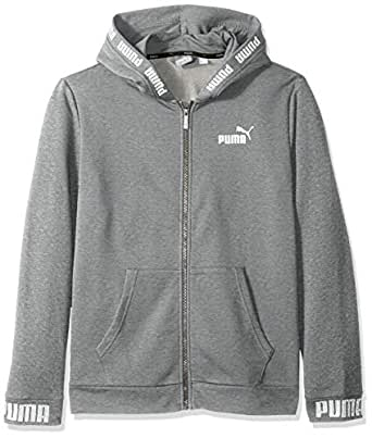 PUMA Men's Amplified Hooded Jacket, Medium Gray Heather, S