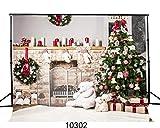 SJOLOON 7x5ft Bear Fireplace Christmas Tree Photography Backdrops for Children Photo Studio Background JLT10302