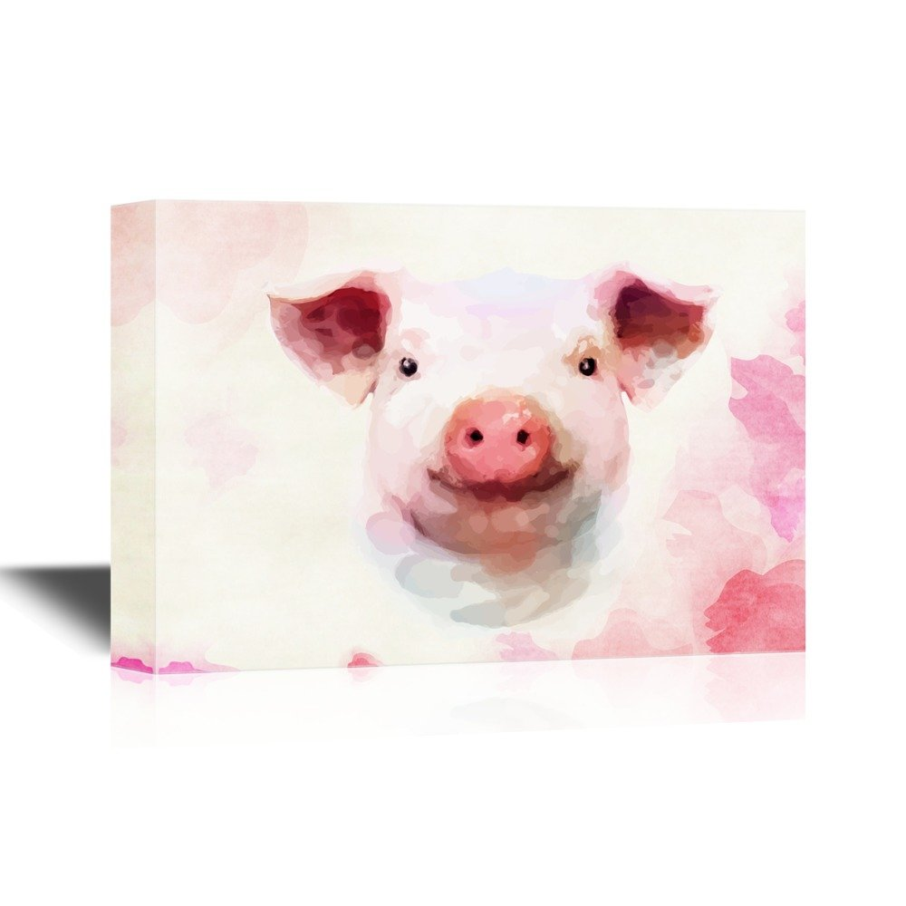 Wall26 art prints framed art canvas prints greeting wall26 pigs canvas wall art adorable watercolor style pig gallery wrap modern home decor ready to hang 32x48 inches kristyandbryce Gallery