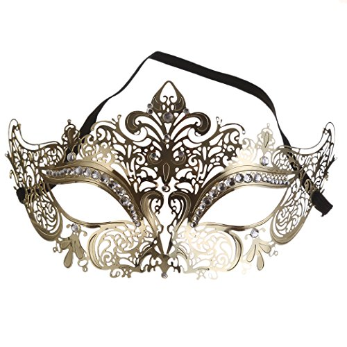 Raycity Laser Cut Metal Masquerade Mask Venetian Party Evening Ball Prom Fancy Dress 1