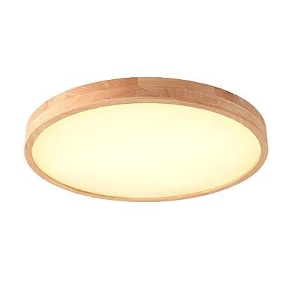 Deckenleuchte Led Runde Holz Licht Einstellbare Licht