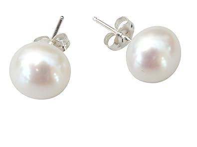 8acd3bec9195 StunningBoutique Perlenohrring Ohrringe mit großen Süßwasser-Zuchtperlen -  10 mm - Sterling Silber 925 - als Geschenk verpackt geliefet  Amazon.de   Schmuck