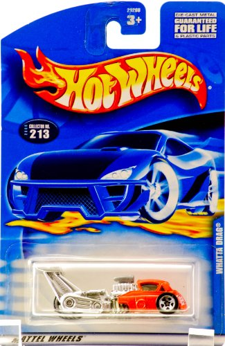 2000 - Mattel - Hot Wheels - Whatta Drag - Orange - Collector #213 - Tinted Windows - 3 Wheeler - New - Out of Production - Limited Edition - Collectible