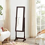 SONGMICS 6 LEDs Jewelry Cabinet Armoire, Lockable
