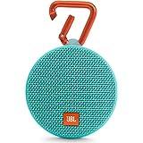 JBL Clip 2 - Bocina Bluetooth portable resistente al agua (reacondicionado certificado)., Verde azulado