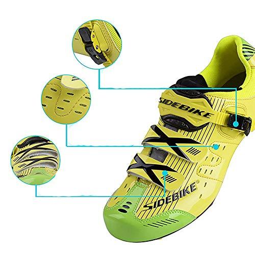 Adultes Fibre vibratio Fixation pour Vélo Chaussures amp; Pédale Route Chaussures Damping Anti Carbone de de de avec de Cyclisme SIDEBIKE Uw16x8pqBw