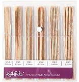 "Knit Picks Double Pointed Wood Knitting Needle Set (Sunstruck 6"")"