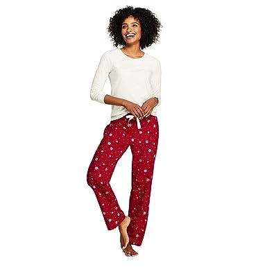 Lands  End Women s Knit Flannel Pajama Set at Amazon Women s ... e0b7f66d5