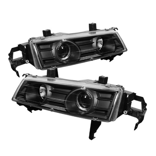 Honda Prelude Headlamp (Spyder Auto PRO-YD-HP92-BK Honda Prelude Black Halo Projector Headlight)