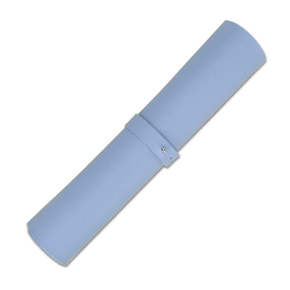 LiLan Sottomano per Scrivania in Pelle PU Blu, 60X30CM