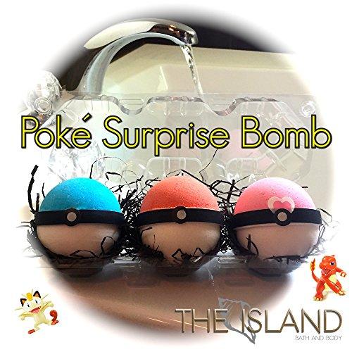 Bath bomb set 3 pokeball surprise bombs xl 6 5 oz each the - Bombe da bagno lush amazon ...