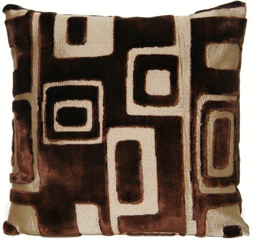 Designers Guild Brown Velvet Decorative Pillow Throw Case Fabric Cushion Cover Retro Quarenghi Cocoa