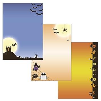Halloween Geisterschloß Set Motivpapier Briefpapier 20 Blatt A4 10 Umschläge