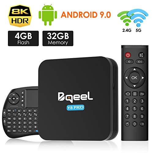 Android 9.0 TV Box 4GB RAM 32GB ROM, Bqeel TV Box Android S905X3 Quad-Core 64bit with Dual-WiFi 2.4G/5.0G, 3D Ultra HD…