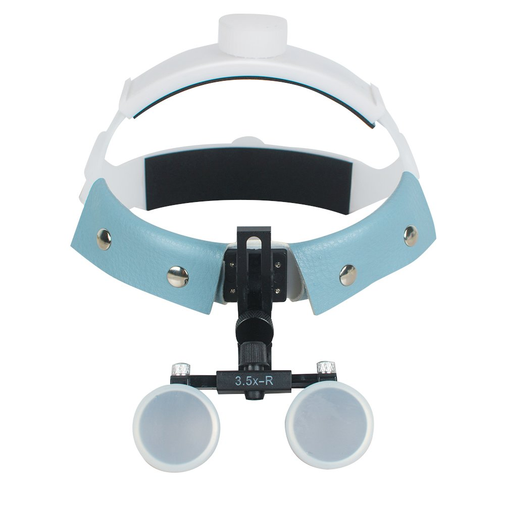Tinsay Dental Surgicial Loupe Loupes 3.5X-R Magnification Dental Medical Headband Binocular Loupes Glasses Magnifier Bullet Points