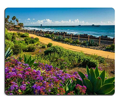 Mousepads Colorful Flowers and View of The Fishing pier at Linda Lane Park in San Clemente California Image ID 37030137 250mm300mm (Clemente Flowers San)
