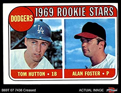 1aec779fc3d 1969 Topps   266 Dodgers Rookies Alan Foster Tommy Hutton Los Angeles  Dodgers (Baseball