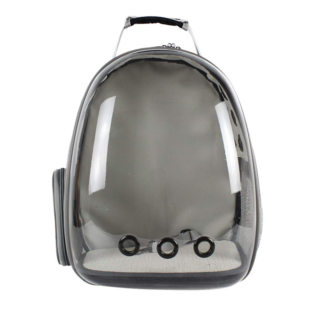 Dreamyth- 1Pc Puppy Carrier 360 Degree Sightseeing Space Capsule Pet Carrier for Puppy Dog 42 x 29 x 27 cm (Clear)