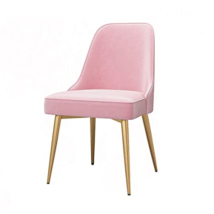Dining Chairs Yxx Pink Dining Side Chair Velvet Seat For Square Desk
