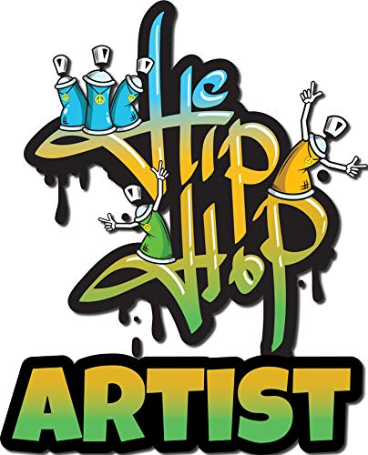 4 All Times Hip Hop Artist Automotive Car Decal for Cars, Trucks, Laptops (4.0