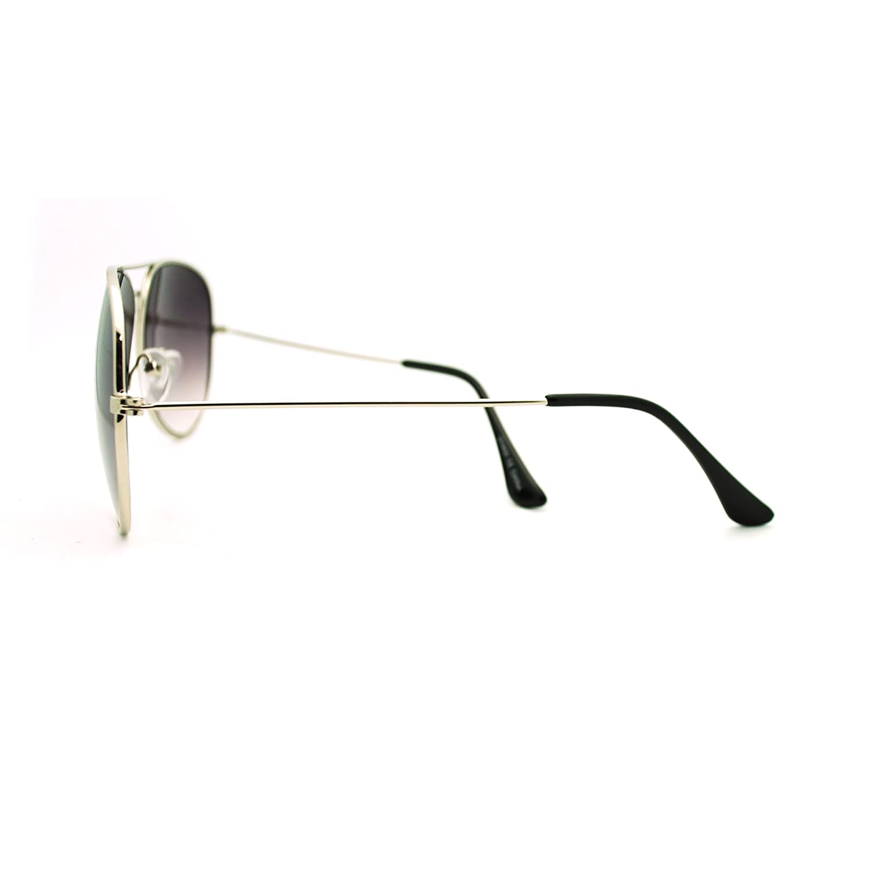 Classic Unisex Pop Color Wire Rim Tear Drop Aviator Sunglasses Silver