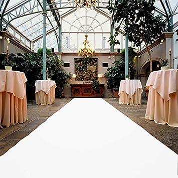 Hochzeitsteppich VIP Event-Teppich-L/äufer Eventteppich Hochzeitsl/äufer PODIUM Teppichboden f/ür Messe /& Event Empfangsteppich 2,00m x 3,00m Wei/ß mit Schutzfolie
