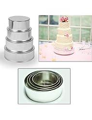 4 Tier Round Multilayer Wedding Birthday Anniversary Baking Cake Tins Cake Pans 6 8 10 12 - EUROTINS