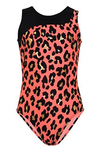 Animal Print Leotards (Sale- k-Bee Leotards Girl's Bobcat Coral Gymnastics Leotard)