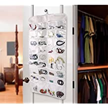 Focussexy Jewelry Hanging Non-Woven Organizer Holder 32 Pockets