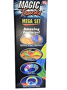 Mega Set Magic Tracks Glowing Race Track and IKEA AAA Batteries Included Bundle
