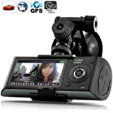 BW 2.7 inch Screen Dual Camera 5MP Car Blackbox DVR with GPS Logger and G-Sensor