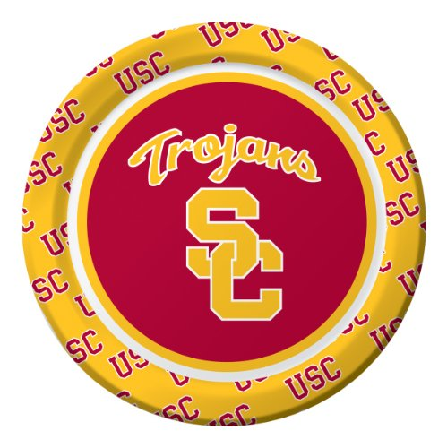 Usc Costumes - 8-Count NCAA Dessert Paper Plates, USC