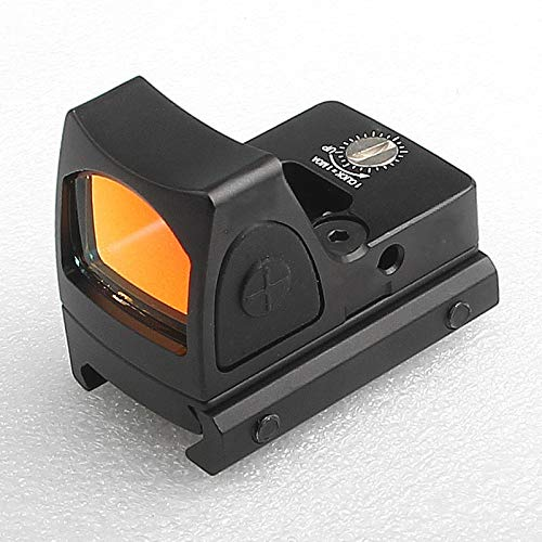 US Stock Mini RMR Red Dot Sight Collimator Reflex Sight Scope fit 20mm Weaver Rail for Airsoft Hunting Rifle RL5-0004-2 (Black)