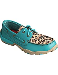 Twisted X Casual Shoe Girls Red Buckle Mocs 5 Youth Turquoise YDM0029