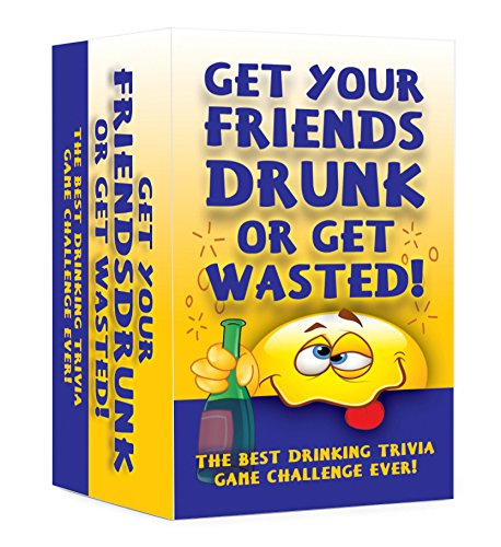 Fun Games Drinking Card (Get your Friends Drunk or Get Wasted! Hilarious Adult Drinking Card Game)