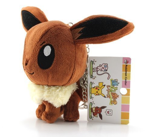 Pokemon Center Plush Strap  5  Eevee (Japanese Import)