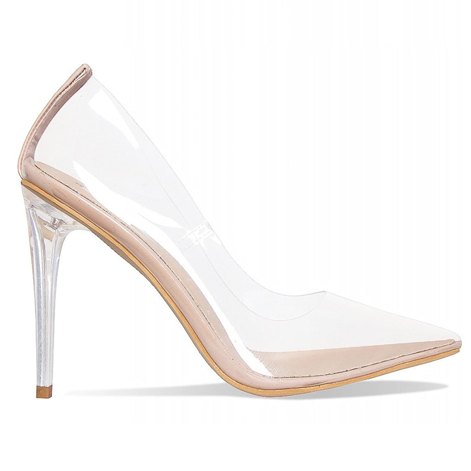 b34bf3eeb8 ... Hell&Heel Clear Stiletto Court Shoes PSP01 - 7 ...