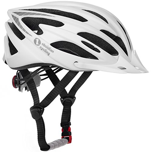 TeamObsidian Airflow Bike Helmet [ White/Medium - Large ] - for Adult Men & Women and Youth/Teenagers - CPSC Certified Bicycle Helmets for Road, Street or Mountain Biking - Best Cycling Gift Idea