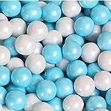 FirstChoiceCandy Sixlets Milk Chocolate Balls (Powder Blue & White, 2 LB)